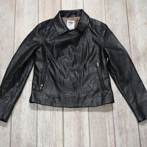 Old Navy | Girl's Faux Leather Moto Jacket M(8)